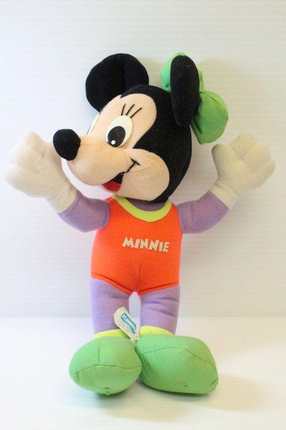 Minnie Mouse Plush stuffed doll, Walt Disney Plush, vintage Minnie Mouse, vintage Disney, Vintage stuffed toy, 1988 vintage playskool