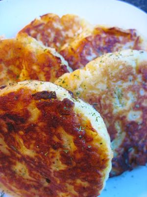 Irish Boxty Potato Cakes. Made these with leftover Colcannon after St. Patrick's Day. I used 1 cup sour cream instead of the yogurt and water, and made these like regular pancakes. Instant Favorite!