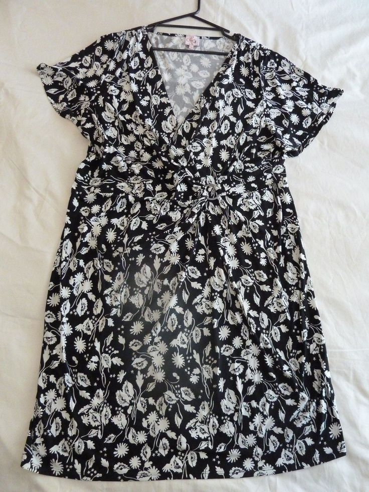 Leona Edmiston + 24 Black White Floral Dress | eBay