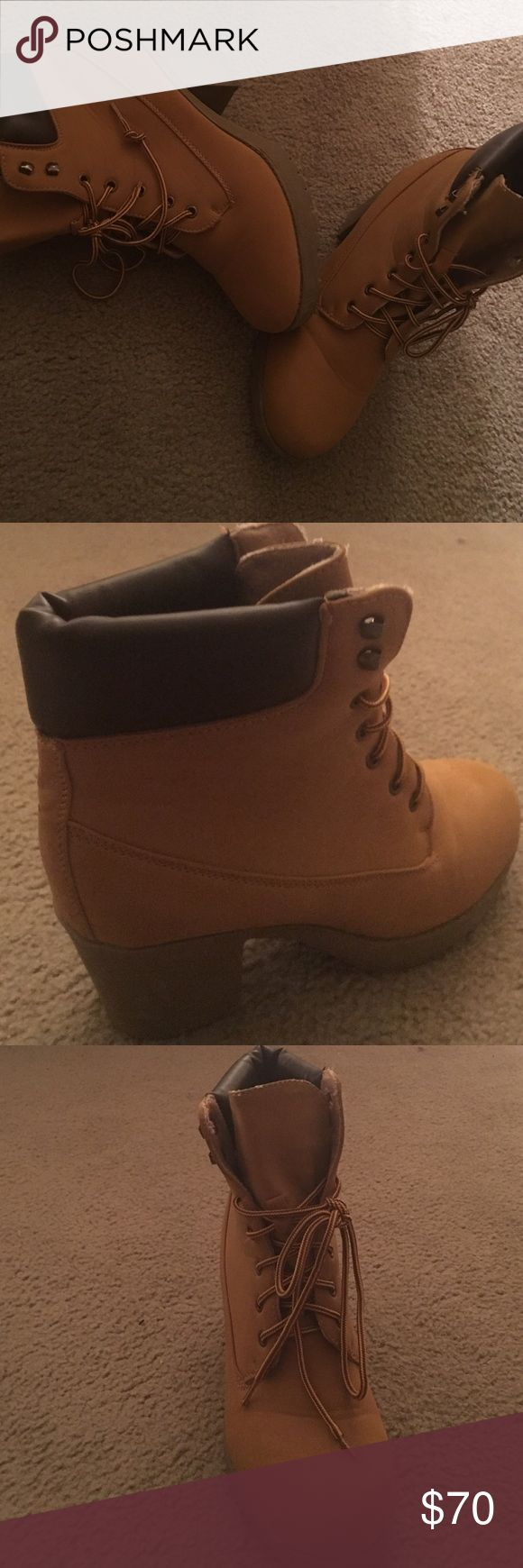 Timberland Heel Boots These shoes are originally $150 Timberland Shoes Heeled Boots