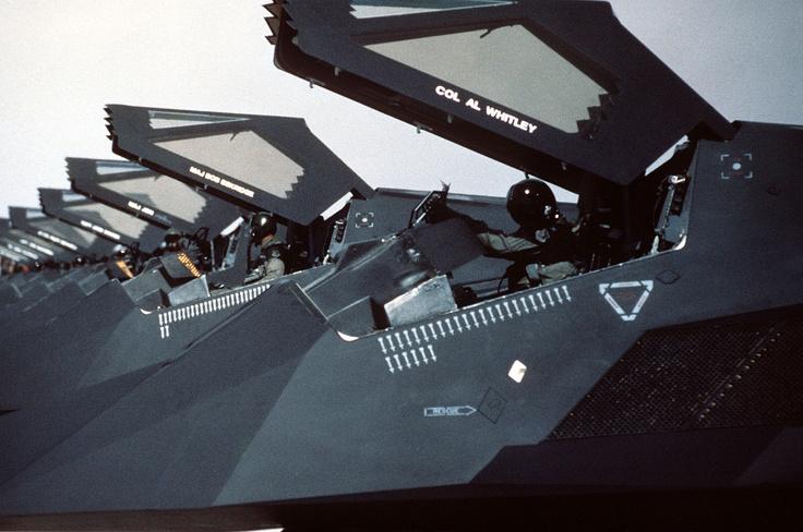 Gulf War F-117 Nighthawk Flight Preparing for Launch