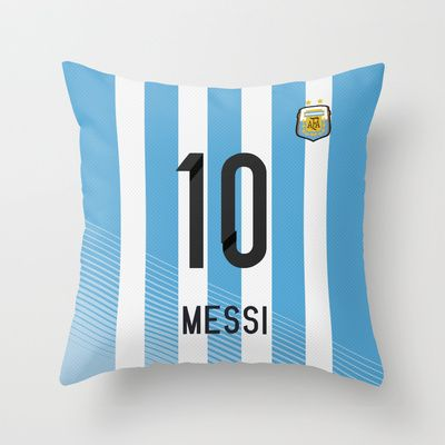 Buy World Cup 2014 - Argentina Messi Shirt Style by Maximilian San as a high quality Throw Pillow. Worldwide shipping available at Society6.com. Just one…