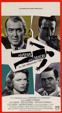 Anatomy of a Murder   James Stewart, Lee Remick, Ben Gazarra, Eve Arden, George C. Scott   Columbia Tristar, 1959
