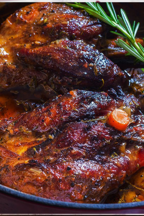 Minimum fuss, maximum flavour is the best way to describe this slow braised lamb shanks recipe. Tons of herbs add fresh flavor to this recipe.