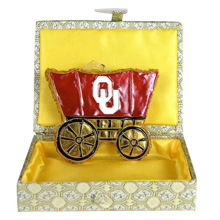Ornament - University of Oklahoma Sooner Schooner