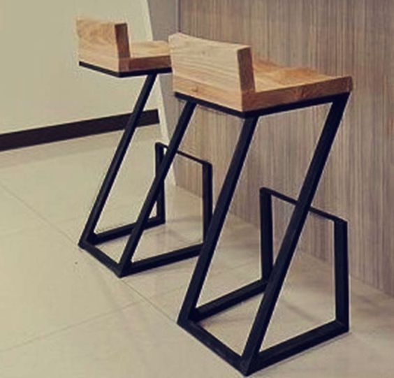 Creative American Wood To Do The Old Wrought Iron Bar Stool Stools Retro