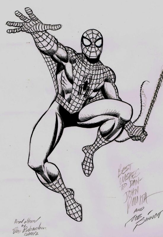 John Romita Sr / Joe Sinnott / Joe Rubinstein Amazing Spiderman Original Commission  Comic Art