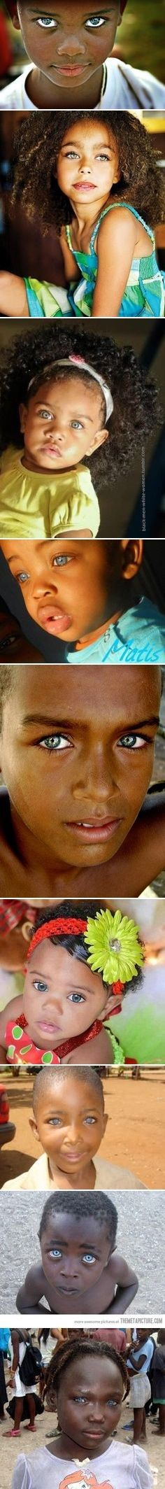 African-Americans with Green, Grey, Hazel or Blue Eyes, Naturally Blonde or Red…