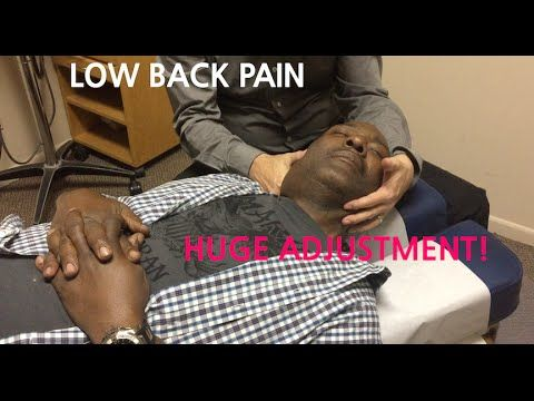 Chiropractor helps extreme LOW BACK PAIN with Huge NECK ADJUSTMENT