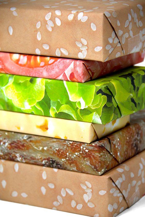 Hamburger Wrapping Paper.