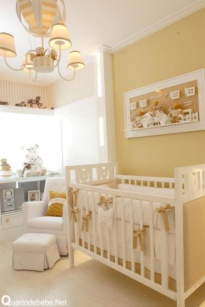 quarto bebe bege Decoração para quarto de bebê masculino com branco e ursos