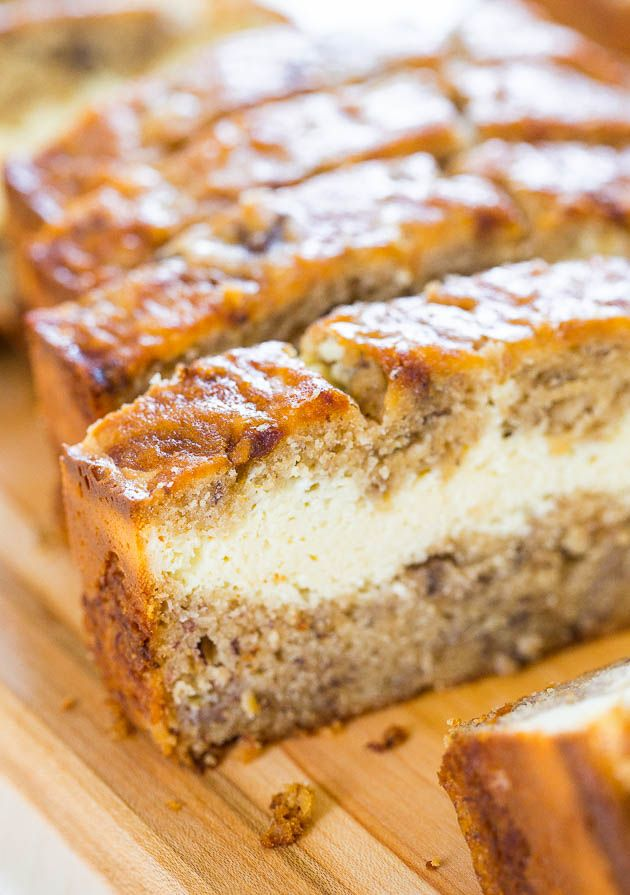 Cream Cheese-Filled Banana Bread – Banana bread that's like having cheesecake baked in! Soft, fluffy, easy and tastes