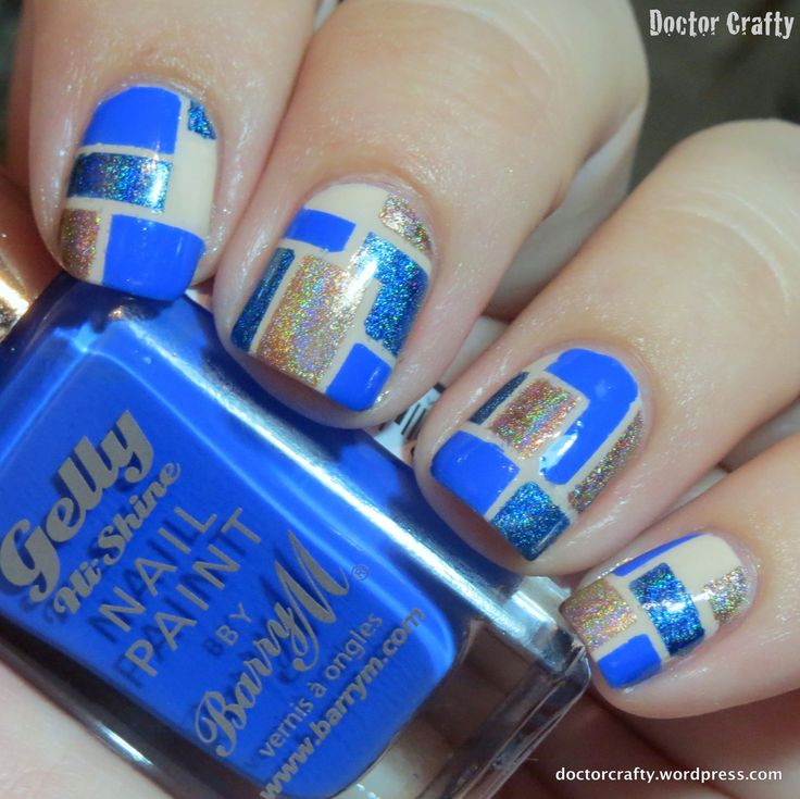 Blue Mosaic Color Blocking: September NCC #2
