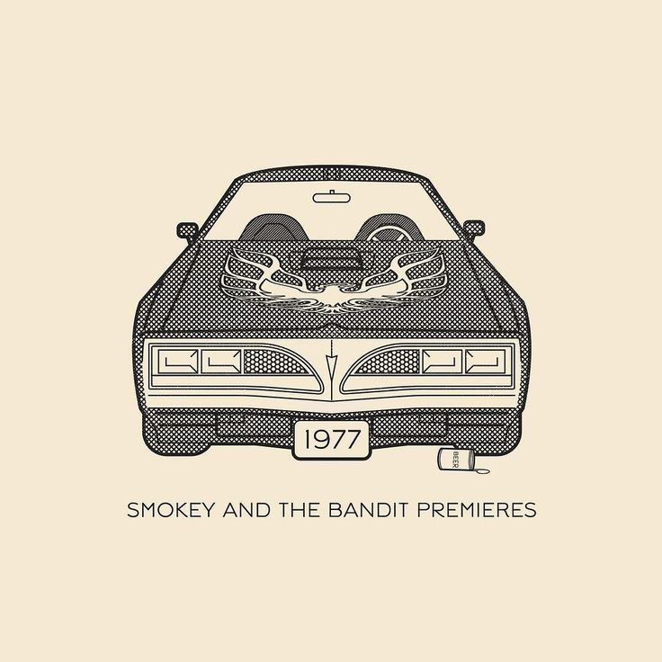 "This Day In History - May 27 - 1977 - ""Smokey And The Bandit"" starring Burt Reynolds and Sally Field premieres.   ---  #thisdayinhistory #todayinhistory #tdih #history #onthisday #minimal #minimalism #simple #minimalist #texture #adobe #illustration #vector #365project #facts #smokeyandthebandit #burtreynolds #pontiac #transam #firebird #car #movie #cinema #entertainment #hollywood #coors #trucker #1977 #fact  #racecar"