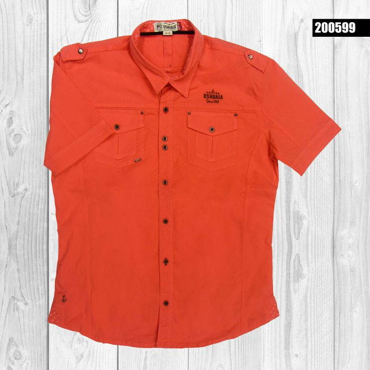 camisa-hombre-manga-corta-color-naranja-200599