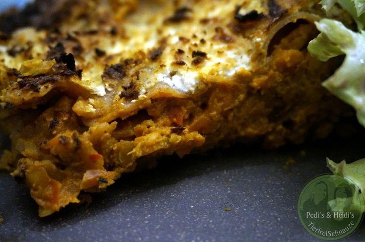 Linsen-Karotten-Lasagne, ruck zuck | TierfreiSchnauze