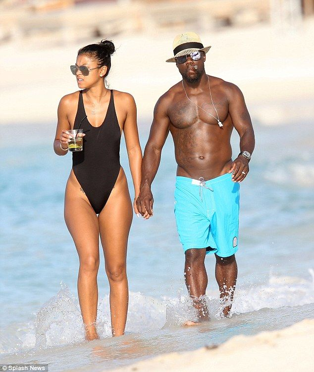 Life's a beach! Kevin Hart and his new bride Eniko Parrish were living it up as honeymooners in St. Barts on Monday