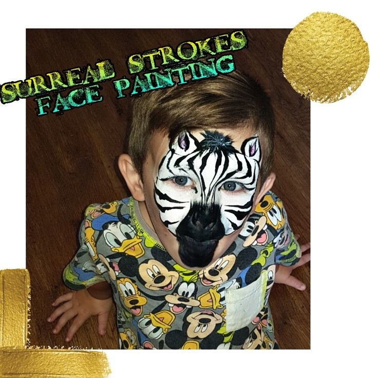 Zebra Face Paint www.facebook.com/Surrealstrokesfacepainting   #facepaint #facepaintdesigns #forkids #Zebra #birthdayparty