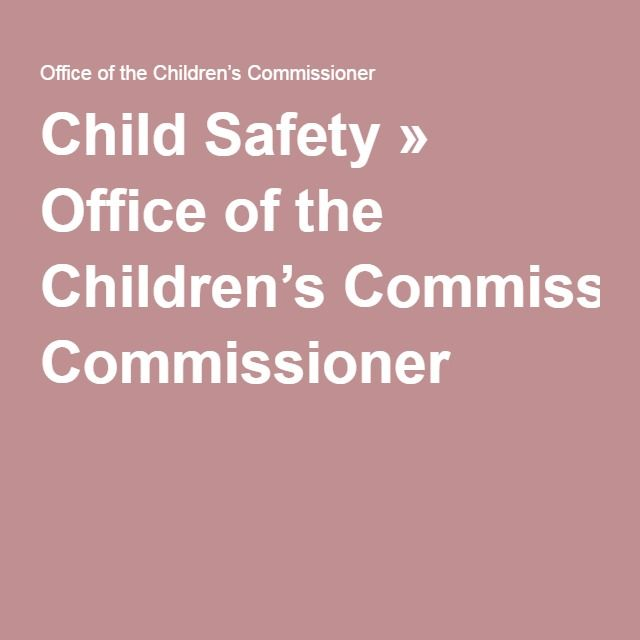 Child Safety » Office of the Children's Commissioner