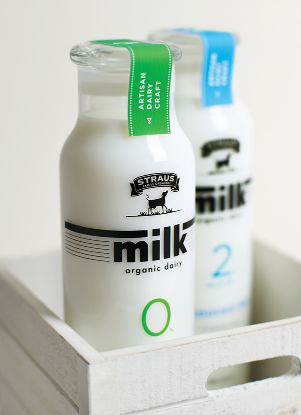 Straus Family Creamery Organic Milk on AIGA Member Gallery  About: This project is a collaboration with the company Straus Family Creamery. Since 1994, the company has been dedicated to make the highest quality and minimally processed organic dairy products. This project is to redesign its package system, especially product lines in the organic milk products.