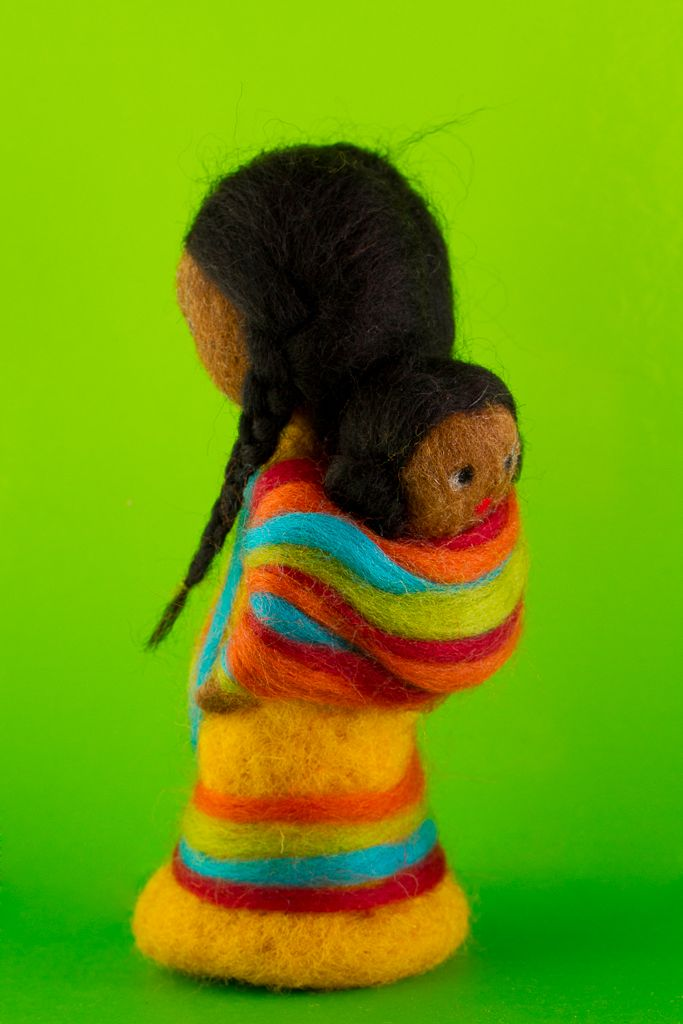Colors -Needle felted doll