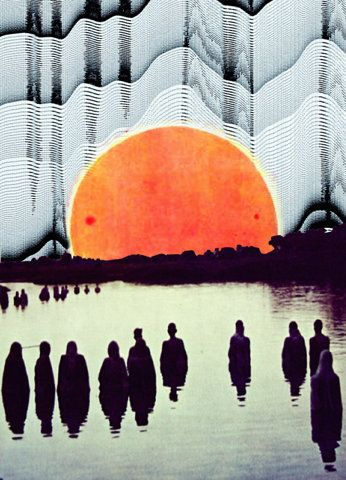 .: Graphic Design, Inspiration, Illustrations, Color, Sunset, Collage, Kieron Cropper