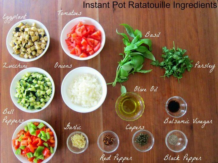 Instant Pot Ratatouille Ingredients - Paint the Kitchen Red