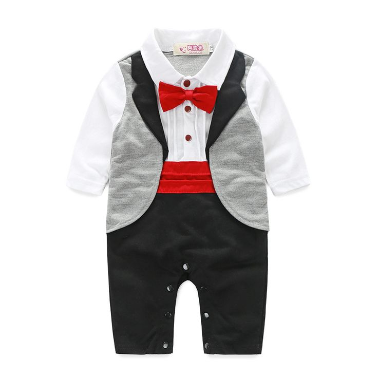 Vestito Per La Cerimonia Nuziale del bambino Gentleman Tuxedo Pagliaccetti Bebe Menino infantile Ragazzi Appena Nati Tuta Cravatta Vestito Da Cerimonia Nuziale Del Bambino Vestiti Del Partito