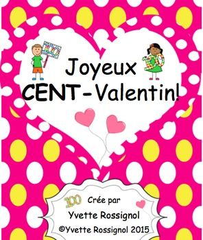 Combine Valentine's day and the 100th day by having students create this little book and sing this fun song! Great for math concept (10 groups of 10 =100, rhyming words, etc..)  Super pour pratiquer les mots qui riment, la lecture et le concept mathématique que 10 groupes de dix = 100. ET, ils vont bien aimer la chanson qui accompagne ce petit livre!