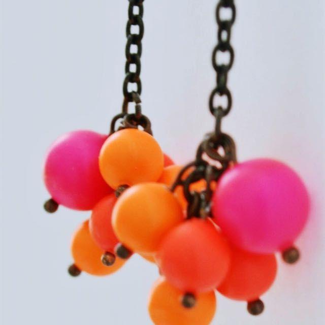 Swarovski Cluster Drops Earrings - Neon Bubbled on Carousell