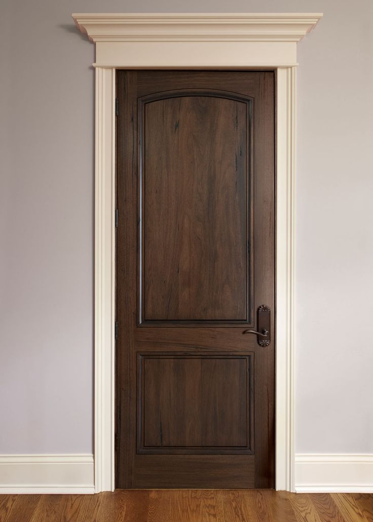 Interior Door Custom - Single - Solid Wood with American Walnut Finish, Classic, Model DBI-M-701P