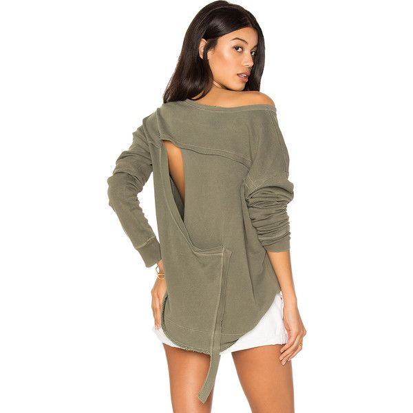 Wilt Slouchy Open Back Sweatshirt ($149) ❤ liked on Polyvore featuring tops, hoodies, sweatshirts, sweatshirts & hoodies, sweatshirt hoodies, cotton hoodie, cotton sweatshirts, cotton hoodies and cut-out tops