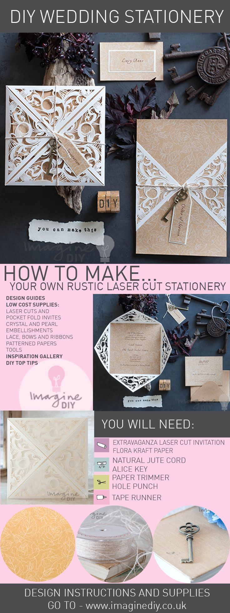 269 best how to make diy wedding stationery images on pinterest your own diy wedding stationery junglespirit Images