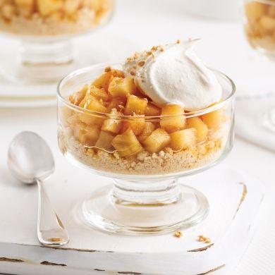 Pommes caramélisées à l'érable en verrine - Desserts - Recettes 5-15 - Recettes express 5/15 - Pratico Pratique