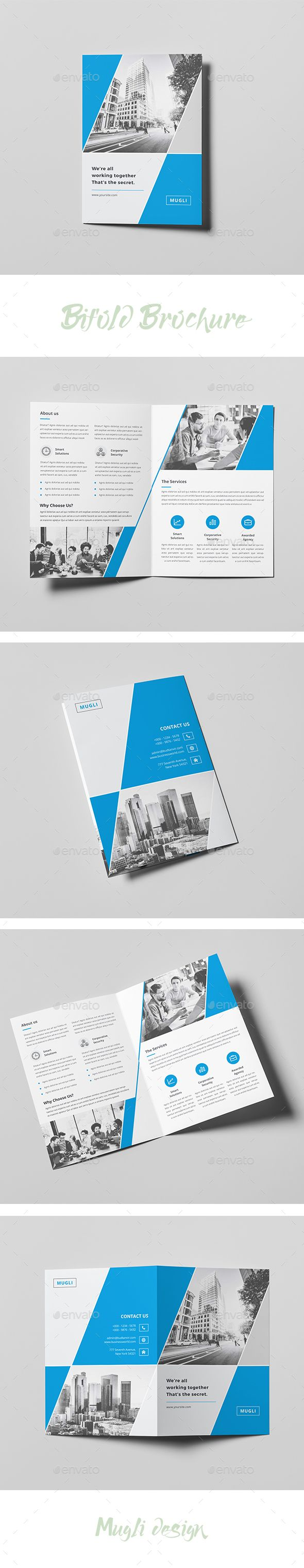 Bifold Brochure Template InDesign INDD