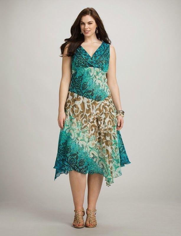 Maravillosos vestidos casuales para gorditas | Vestidos para el día a dia