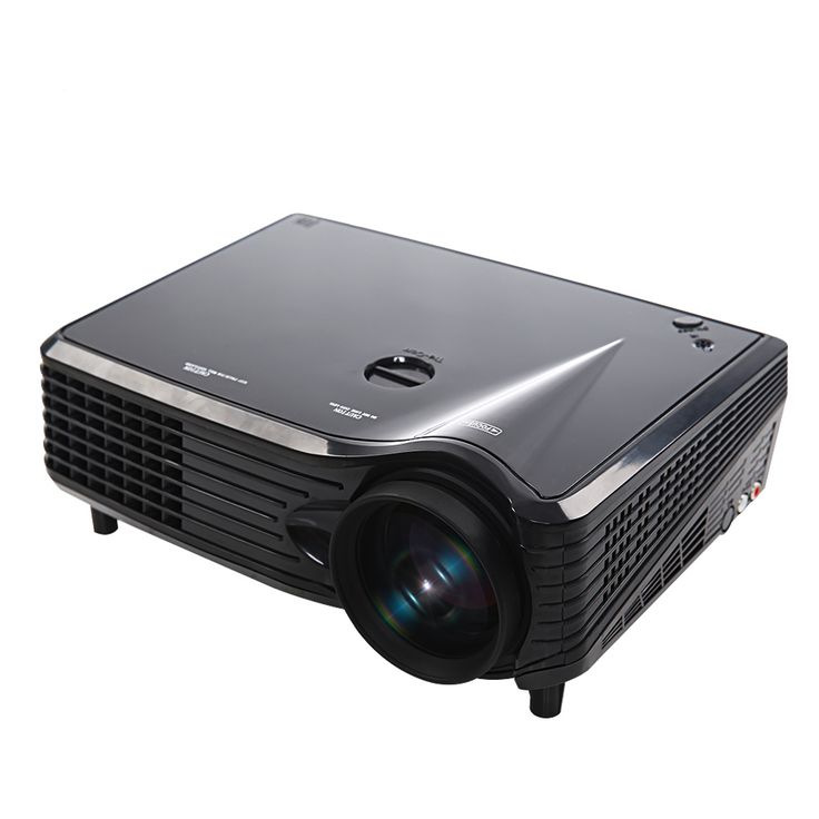 Home Theater Portable Mini LED LCD Projector 1080P FHD UK Plug #lcdprojector