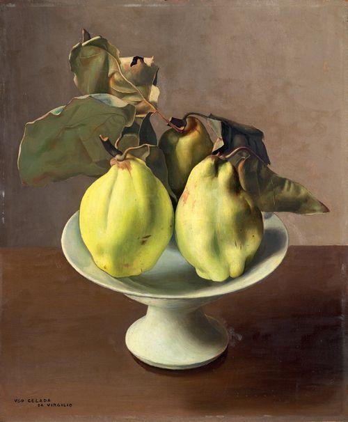 Ugo Celada da Virgilio (Italian, 1895-1995), Mele cotogne [Quinces]. Oil on masonite, 45.8 x 38 cm.