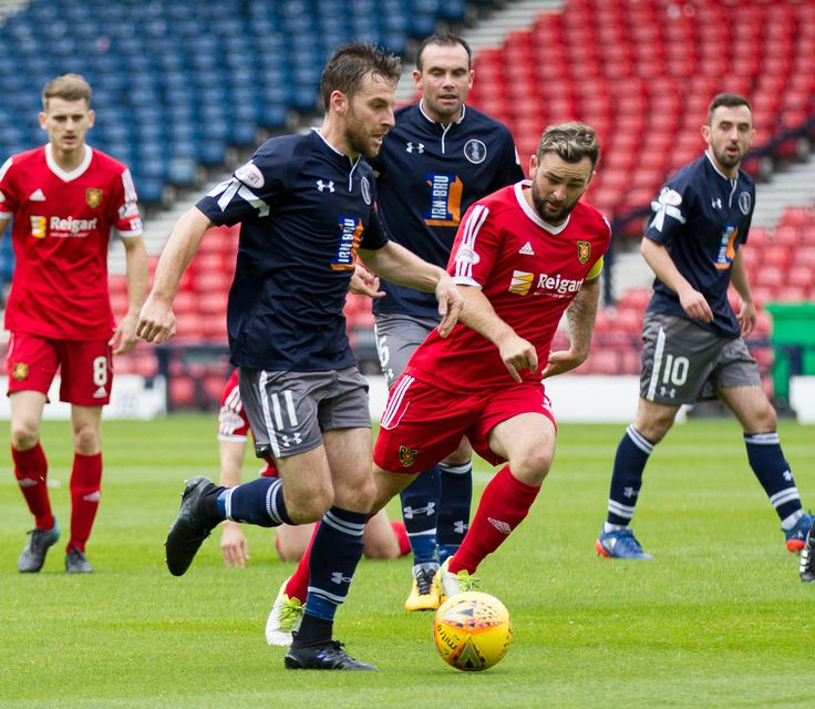 Queen's Park's Chris Duff in action during the SPFL League One game between Queen's Park and Albion Rovers.