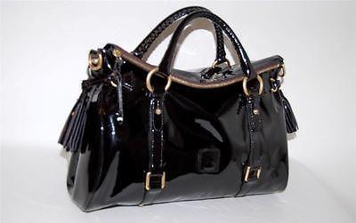 Dooney Amp Bourke Black Patent Leather Large Tassel