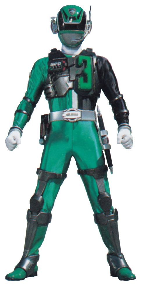 I searched for Power Rangers SPD green images on Bing and found this from http://powerrangers.wikia.com/wiki/Bridge_Carson
