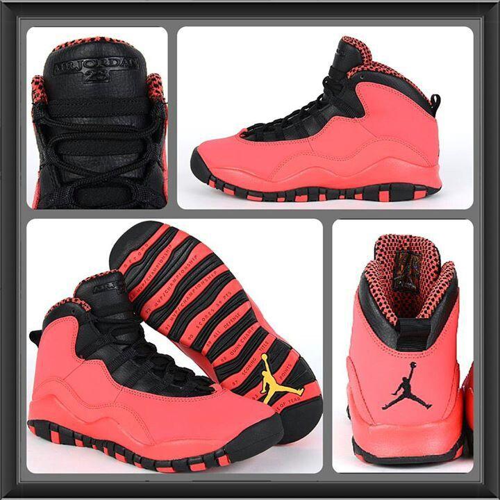 womens air jordan retro 10 pink red