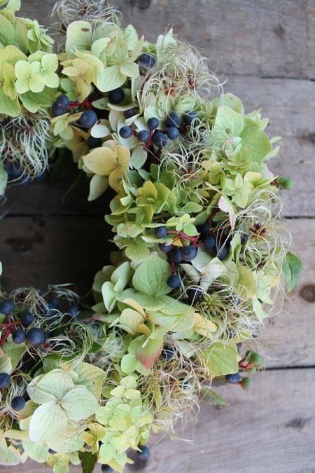 autumn hydrangea wreath | MOJA PRZYSTAŃ
