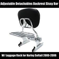 NEW BACKREST SISSY BAR W/ DETACHABLE LUGGAGE RACK FOR HARLEY DAVIDSON MODEL