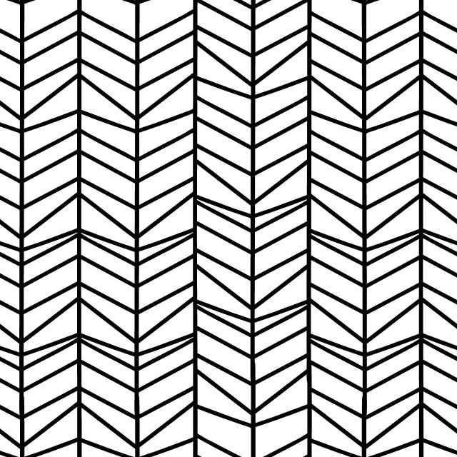 Herringbone Seamless Pattern With Hand Drawn Zigzag Lines Geometric Background Black And White Vector Illustration Graphic Wallpaper Shape Png And Vector Wi Geometric Background Zigzag Line Seamless Patterns