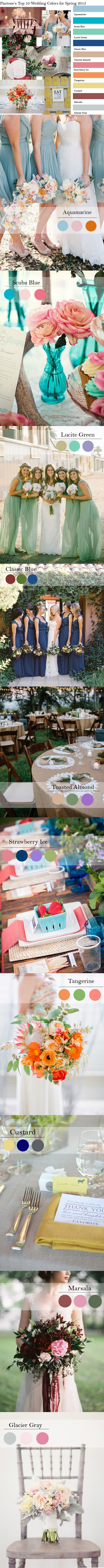 top 10 Pantone fashion wedding color inspiration
