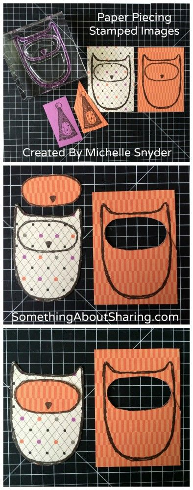 """""""What A Hoot"""" – Paper Piecing Stamped Images"""