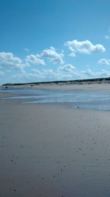 Brancaster Beach. Barely a cloud in the sky.