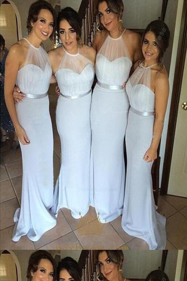 Bridesmaid Dress Long Bridesmaid Dress White Bridesmaid Dress Chiffon Bea Modern Bridesmaid Dresses Sleeveless Bridesmaid Dresses Popular Bridesmaid Dresses