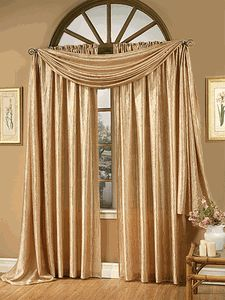 Whisper Crushed Satin Curtains - Gold